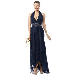 Women's Dark-Blue Dress, Formal Evening Dress, Cheap Evening Dresses, 2015 New Dresses, Hot Selling Formal Dresses, #F30009