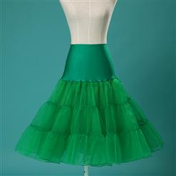 Sexy Green Skirt Petticoat, Fashion Green Skirt, Cheap Ladies Tulle Petticoat, Party Dress Petticoat, Plus Size Petticoat, #HG11253