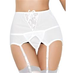 Mesh Garter Belt White, Suspender Belt with Straps, White Lingerie Garter Belt, Womens Mesh Garter Belt, High Waist Garter Belt, #HG16726