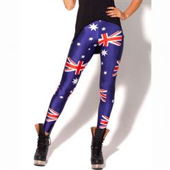 Flag of Australia Pattern Leggings, High Waist Leggings, High Quality Ladies Leggings, Fashion Seamless Jeggings, Yoga Jeggings, Sports Jegging#L10319