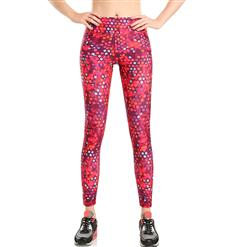 Classical Printed Yoga Pants, High Waist Tight Yoga Pants, Fashion Printed Fitness Pants, Casual Stretchy Sport Leggings, Women's High Waist Tight Full length Pants, #L16163