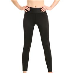 Classical Splicing Yoga Pants, High Waist Tight Yoga Pants, Fashion Printed Fitness Pants, Casual Stretchy Sport Leggings, Women's High Waist Tight Full length Pants, #L16177