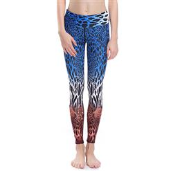 Classical Leopard Print Yoga Pants, High Waist Tight Yoga Pants, Fashion Leopard Print Fitness Pants, Casual Stretchy Sport Leggings, Women's High Waist Tight Full length Pants, #L16368