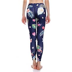Fashion Casual High Waist Floral Print Stretchy Sports Leggings Yoga Fitness Pants L16387