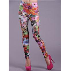 Fashion Leggings, Flower Pattern pants, Legging Flower Pattern, #L5167