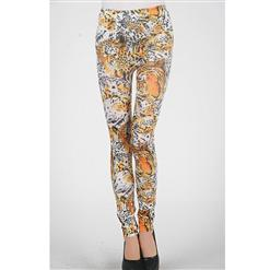 High Waist Leggings, Tiger Pants, Tiger Legging, #L5186