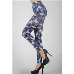 Fashion Butterfly Leggings, Flower Butterfly Pants, Flower Butterfly Leggings, #L5204