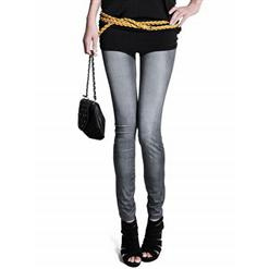 Simple Faux Jeans, Simple Fashion Pants, Simple Fashion Leggings, #L5273