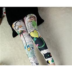 Women's Fashion Graffiti Pattern Leggings L5340