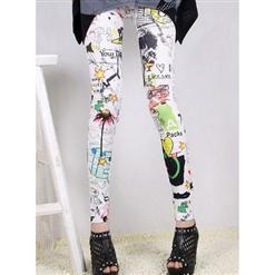 Fashion Graffiti Jeans, Sexy Graffiti Pants, Graffiti Pattern Leggings, #L5340