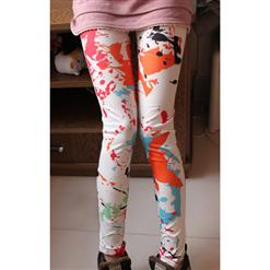 Fashion Color Inks Jeans, Lively Inks Pants, Color Inks Leggings, #L5341