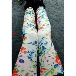 Fashion Orchid Legging, Lovely Orchid Pants, Orchid Pattern Leggings, #L5343