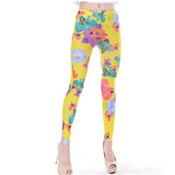 Flowers Pattern Leggings, Seamless Jeggings, High Quality Ladies Leggings, Fashion Seamless Jeggings, Yoga Jeggings, Sports Jeggings, #L5393