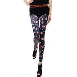 Fashion Floral Legging, Small Floral Pants, Small Floral Leggings, #L5471