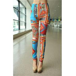 Gorgeous Flowers Printed Jeans, Urban Landscape Printed Leggings, Gorgeous Tattoo Jeggings, #L7451