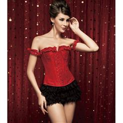 embroidered Corset & shorts, Tie-Strap embroidered Corset, Lace shorts, #M2196