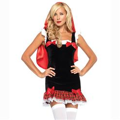 Little Miss Hood, Red Riding Hood Outfit, Sexy Miss Red Costume, #M3215