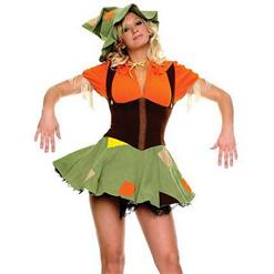 Cute Scarecrow Costume, Cheap High Quality Costume, Sexy Scarecrow Costume, Hot Selling Halloween Costume, #M9978