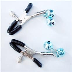 Nipple clamps with cowbell, Powerful nipple clamp, cowbell nipple clamp, #MS7165