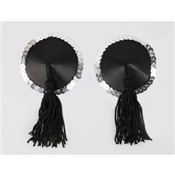 Sexy Round Pasties, Lingerie Pasties, Black Tassel Sequin Round Pasties, Make In China High Quality Pasties, #MS9558