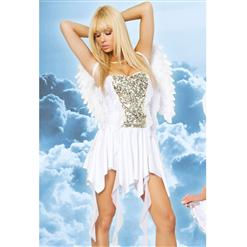 Heavenly Hottie Costume, White Angel Costume, Peaceful Angel Costume, #N1000