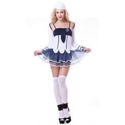 Fashion Sailor Suit, Lady Navy-Blue Dress, Hot Selling Women's Sailor Suit, #N10081