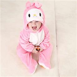 Cheap Cartoon Miffy Baby Romper, Spring Baby Romper, Lovely Pink Miffy Baby Romper, Hot Sale Pink Miffy Flannel Romper, #N10391