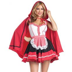 Red Riding Hood Costume, Sexy Halloween Costume, Fairy Tale Costume, Women's Red Riding Hood Adult Costume, #N10449