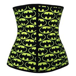 9 Steels Crazy Sexy Ghosts Print Waist Training Cincher Halloween Corset N10636