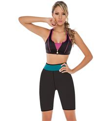 Neoprene Sauna Hot Capri Pants, Neoprene Workout Shorts, Plus Size Neoprene Shorts, Women's Sport Shorts, #N10649