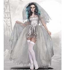 Hot Sale Halloween Costume, Crazy Scary Costume, Women's Scary Bride Costume, Cheap Zombie Costumes, #N10699