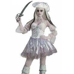 Hot Sale Halloween Costume, Crazy Scary Costume, Women's Scary Pirate Costume, Cheap Zombie Costumes, #N10700