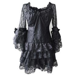 Cheap Black Party Dress, Fashion Lace Dress, Off-shoulder Dress, Sexy Clubwear Dress, #N10892