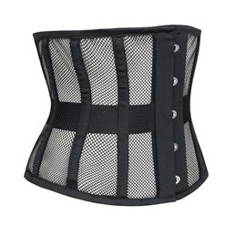 Women's 16 Steel Boned Breathable Mesh Waist Training Corset Waspie N11005