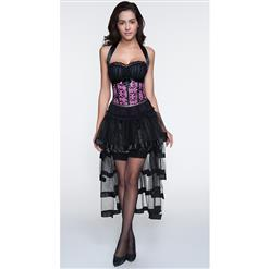Corset and Skirt Set, Plus Size Skirt Set with Corset, Fashion Corset and Petticoat for Women, #N11229