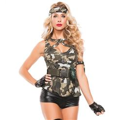 Sexy Army Costume, Temptation Military Costume, Sexy Military Costume, #N11487