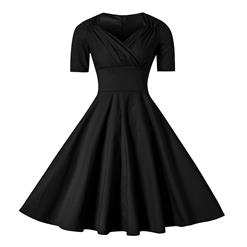 Retro Dresses for Women 1960, Vintage Dresses 1950's, Vintage Dress for Women, Sexy Dresses for Women Cocktail Party, Casual tea dress, Retro Black Dress, #N11608