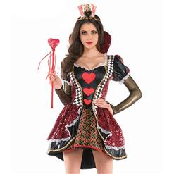 Deluxe Queen of Heart Costume, Heartless Queen Royal Body Shaper Costume, Queen Costume, #N11975