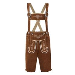 Men's Oktoberfest Suspenders Costume, Men's Fashion Suspender, Vintage Suede Suspender Bavarian Costume, #N12410