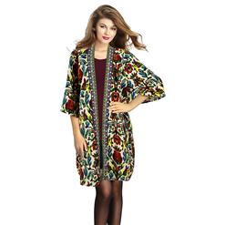 Women's Tribal Print Coat, Winter Coats for Women, Trench Coats for Women, #N12453
