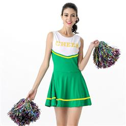 Sideline Spirit Costume, Sexy Cheerleader Costume, High School Cheerleader Costume, #N12605
