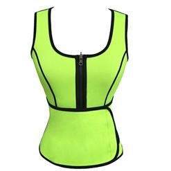 Women's Waist Cincher Vest Corset, Plus Size Corset, Women's Sport Corset, Lime Waist Training Vest Corset with Girdles, Body Shaper Corset Vest, #N12626