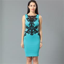 Fashion Dress for women, Lady Casual Dress, Women's Dress Cheap on sale, Evening Party Dress, Lace Bodycon Dress, #N12643