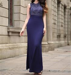 Women's Sexy Graceful Maxi Dress, Cheap Clubwear Dress, Sexy Royalblue Gown, Hot Sale Sleeveless Dress, Evening Party Dress, Sexy Evening Long Gown For Women, Fishtail Gown Mermaid Dress, #N14202