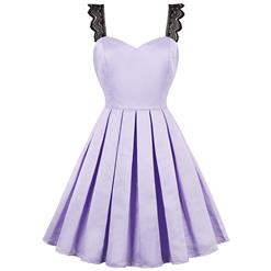 Vintage Dresses for Women, Sexy Dresses for Women Cocktail Party, Casual Mini dress, Purple Swing Daily Dress, Women's Swing Mini Dress, #N14390