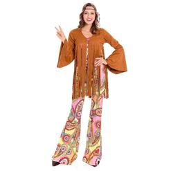 1960's Hippie Hottie Fancy Dress Costume, Women's Vintage Costume, Hippie Dress Adult Costume, Adult Peace & Love Hippie Costume, #N14609