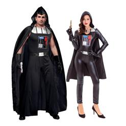 Couples Halloween Party Costume, Star Blaster Costume, Darth Vader Cosplay Outfits, Star Wars Costume, Warrior's Costume for Couples, #N14615