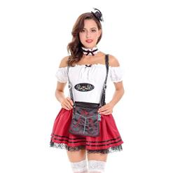 Sexy Maid Costume, Women's Beer Girl Costume, Bavarian Beer Girl Costume, Oktoberfest Wench Adult Dirndl Dress, #N14626