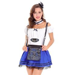 Sexy Maid Costume, Women's Beer Girl Costume, Bavarian Beer Girl Costume, Oktoberfest Wench Adult Dirndl Dress, #N14627