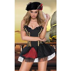 Sexy Pirate Costume, Deluxe Halloween Costume, Pirates Fancy Dress Costume, Cheap Evil Women's Pirate Costume, Pirate Adult Costume, #N14717